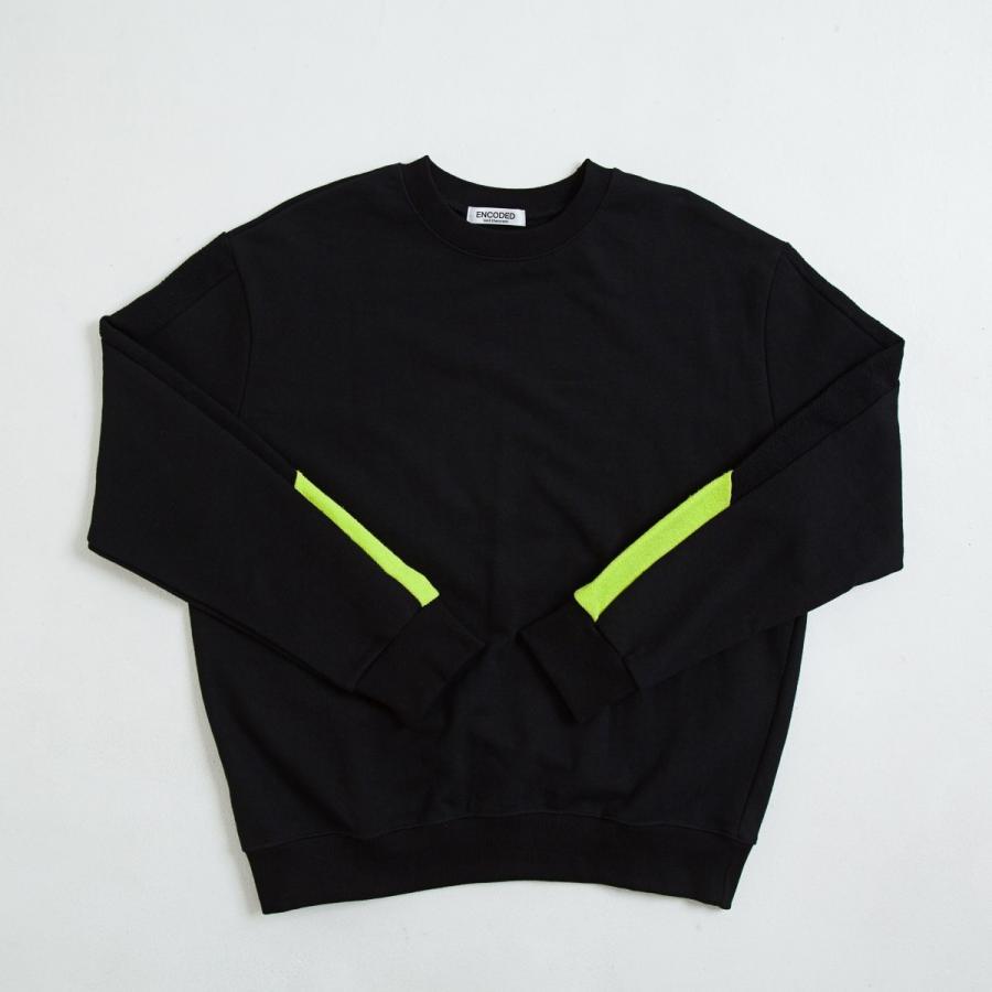 【即納】エンコーデッド ENCODED メンズ スウェット・トレーナー トップス VIVID SIDELINE SWEAT PO black|fermart