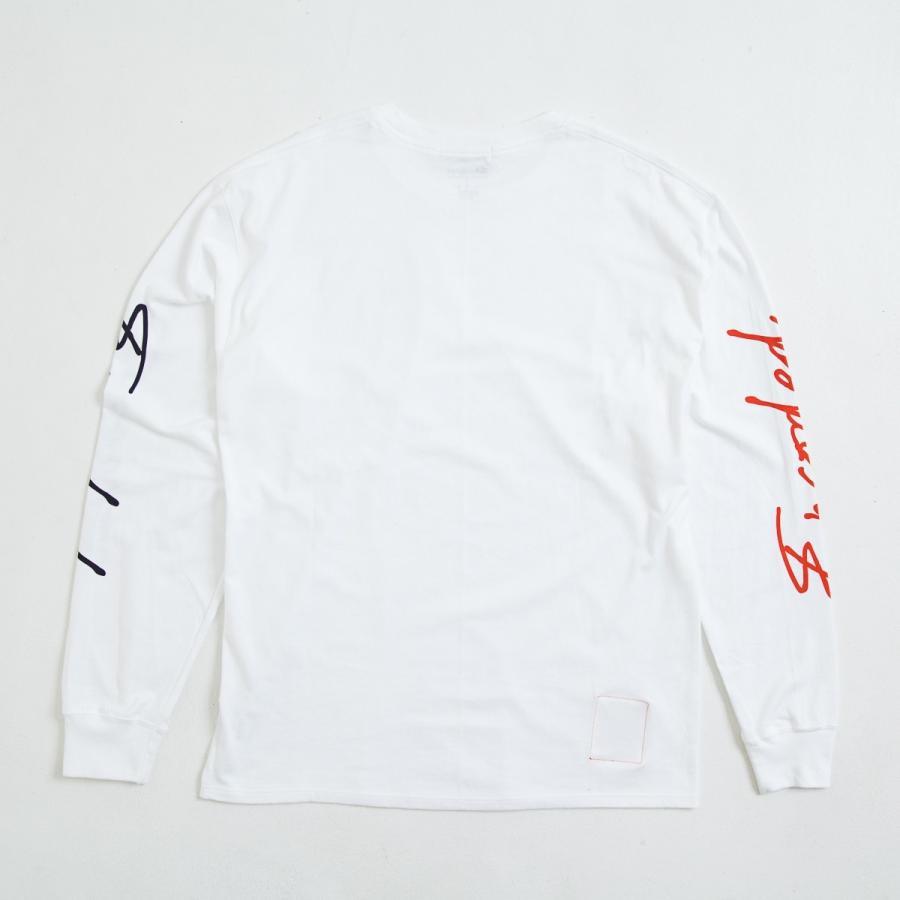 【即納】エンコーデッド ENCODED メンズ 長袖Tシャツ トップス ロンT ロングT ロングスリーブ ASYMMETRY C BODY L/S TEE white|fermart|02