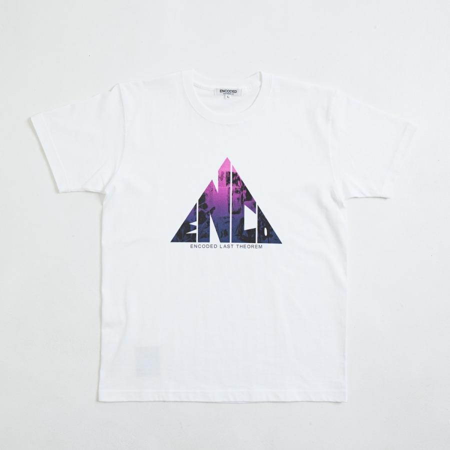 【即納】エンコーデッド ENCODED メンズ Tシャツ トップス TRIANGLE EMBLEM TEE white|fermart