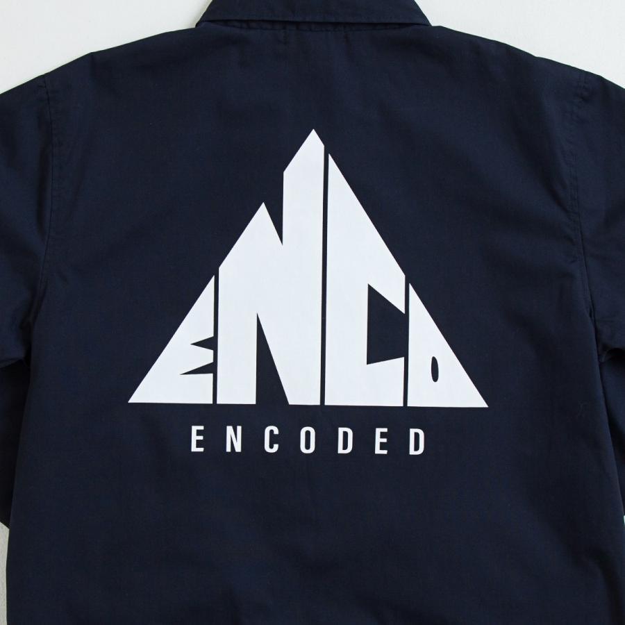【即納】エンコーデッド ENCODED メンズ ジャケット アウター TRIANGLE EMBLEM COACH JACKET navy|fermart|03