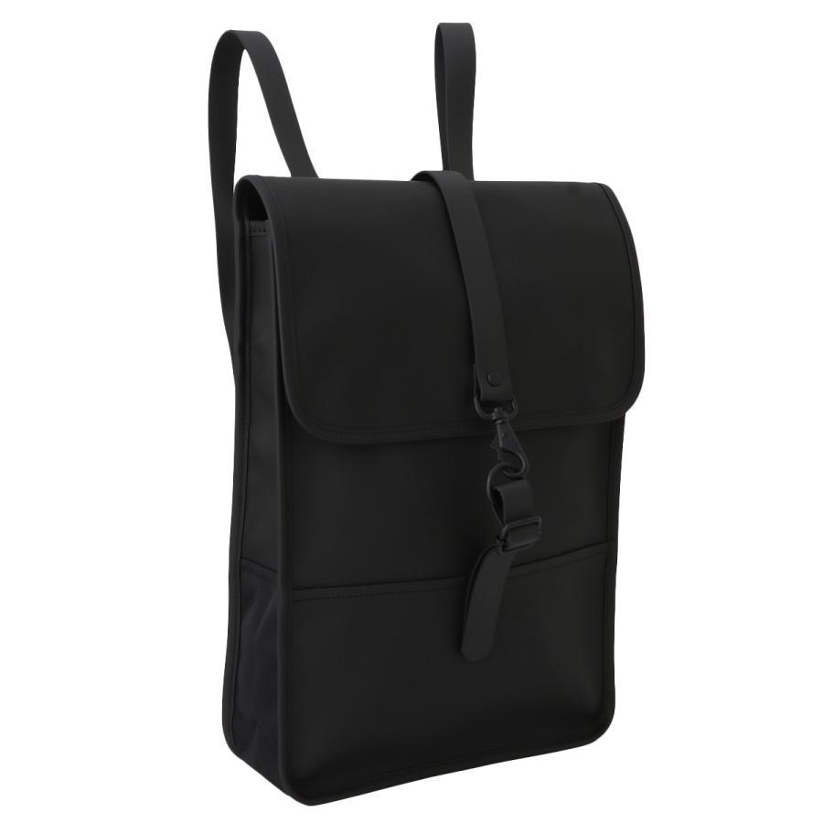【即納】レインズ RAINS ユニセックス バックパック・リュック バッグ Backpack Mini 1280 Black タウンユース 通勤 通学 撥水 防水 デイパック A4サイズ fermart