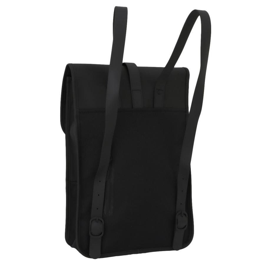 【即納】レインズ RAINS ユニセックス バックパック・リュック バッグ Backpack Mini 1280 Black タウンユース 通勤 通学 撥水 防水 デイパック A4サイズ fermart 02