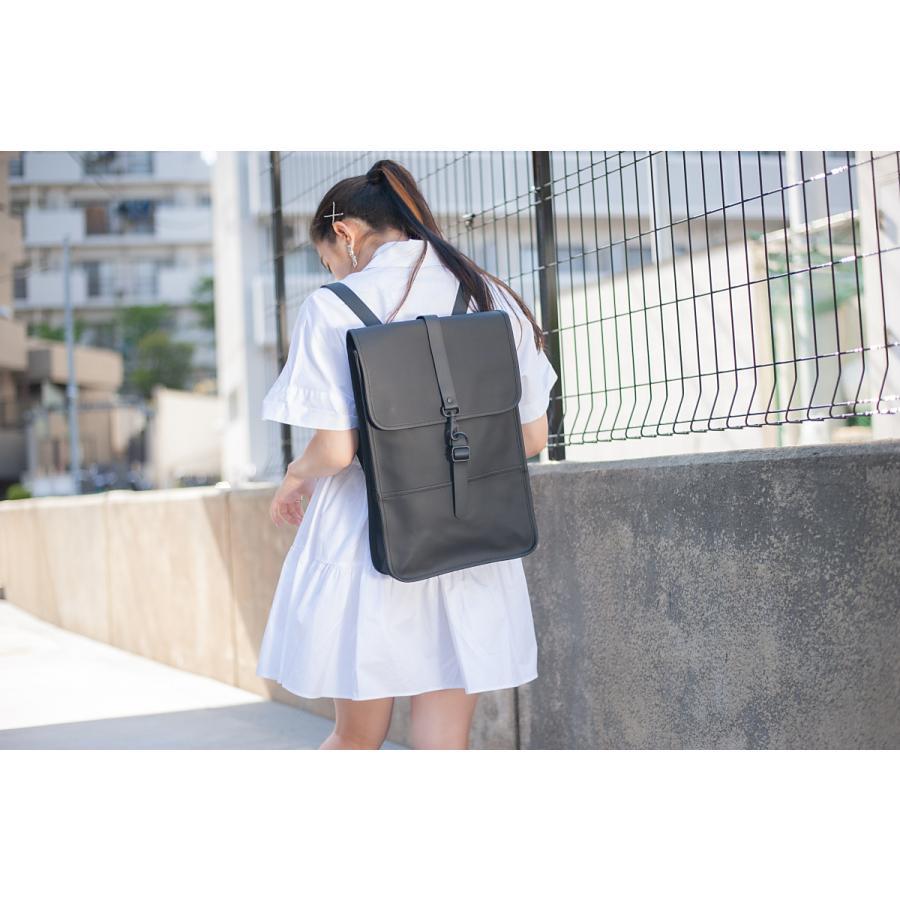 【即納】レインズ RAINS ユニセックス バックパック・リュック バッグ Backpack Mini 1280 Black タウンユース 通勤 通学 撥水 防水 デイパック A4サイズ fermart 04