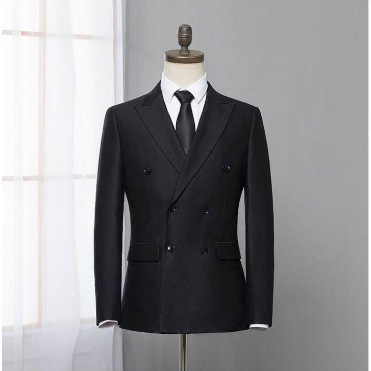 ダブルスーツ就職活動大きいサイズビジネススーツ黒セットアップスリムタキシードメンズジャケット+ズボンフォーマル2点セット結婚式通勤|ff8yoshi1127|02