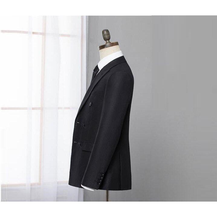 ダブルスーツ就職活動大きいサイズビジネススーツ黒セットアップスリムタキシードメンズジャケット+ズボンフォーマル2点セット結婚式通勤|ff8yoshi1127|03