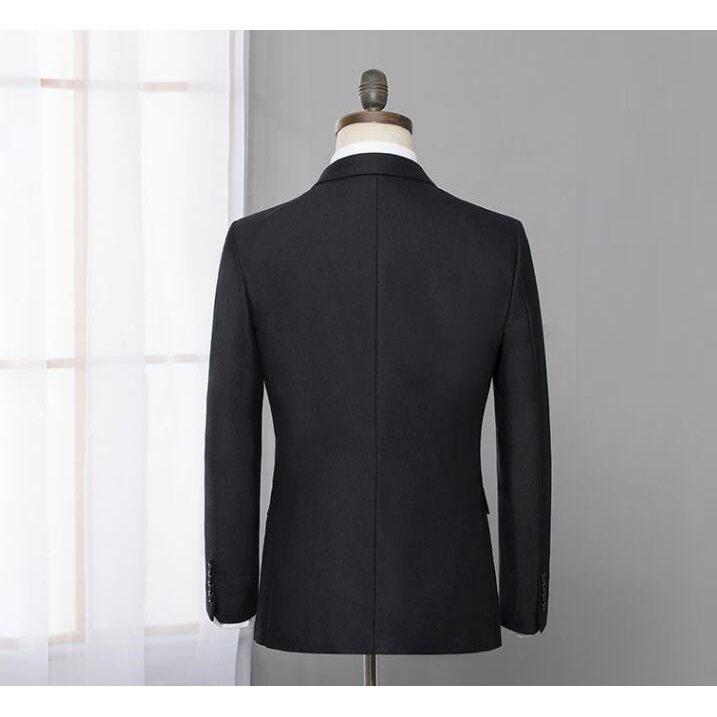 ダブルスーツ就職活動大きいサイズビジネススーツ黒セットアップスリムタキシードメンズジャケット+ズボンフォーマル2点セット結婚式通勤|ff8yoshi1127|04