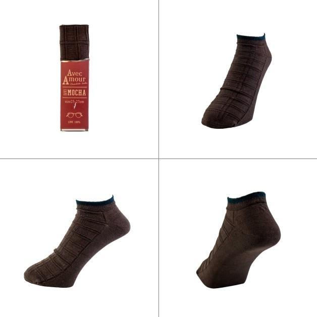 MEN'S SOCKS/ギフトソックス/メンズ/紳士靴下/AvecAmour スリムチョコ 板チョコ チョコバー お礼 父の日 気持ち 25cm-27cm プレゼント ffactory-ff 04