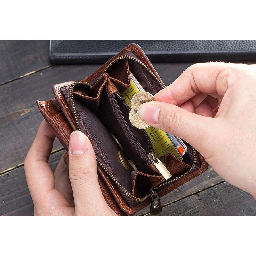 メンズ レディース 財布 Contacts レザー ウォレット 本革 二つ折り財布 カードたくさん入る 小銭入れ 柔らかい コインケース 免許証入れ カード入れ 丈夫 人気 fi-store 05