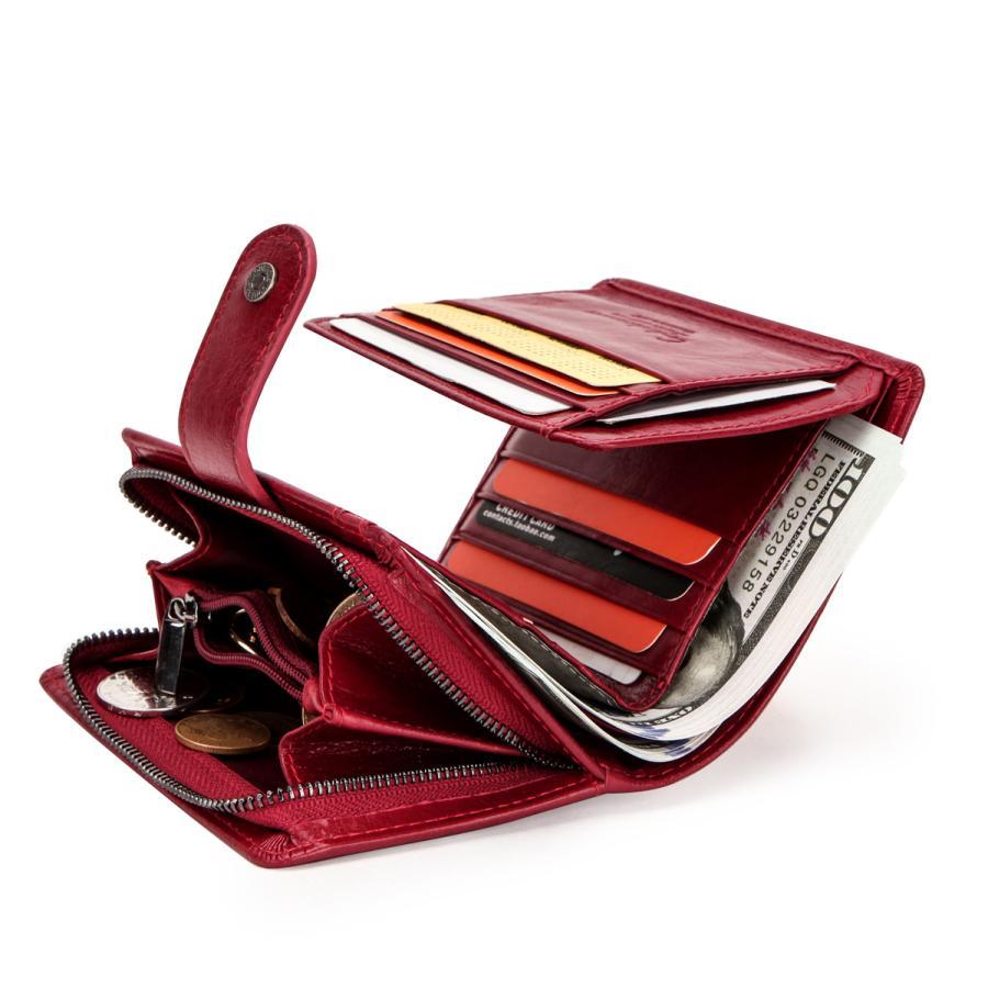 メンズ レディース 財布 Contacts レザー ウォレット 本革 二つ折り財布 カードたくさん入る 小銭入れ 柔らかい コインケース 免許証入れ カード入れ 丈夫 人気 fi-store 06