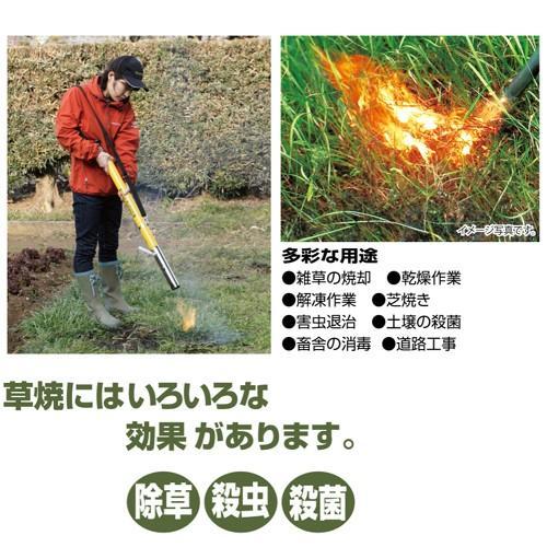 新富士バーナー Kusayaki(草焼きバーナー) KB-200 灯油式 火口径50mm 全長930mm 除草 殺虫 焼却 芝焼 ficst 03
