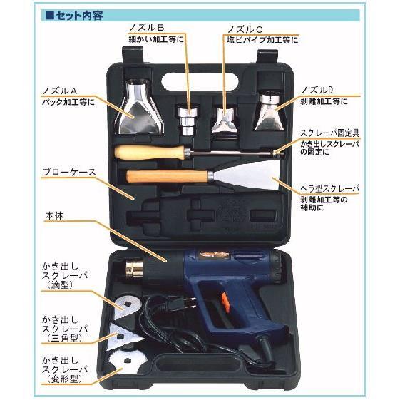 パオック(PAOCK)  ヒートガンセット HG-10S 温度調節可能 剥離 乾燥 ficst 03