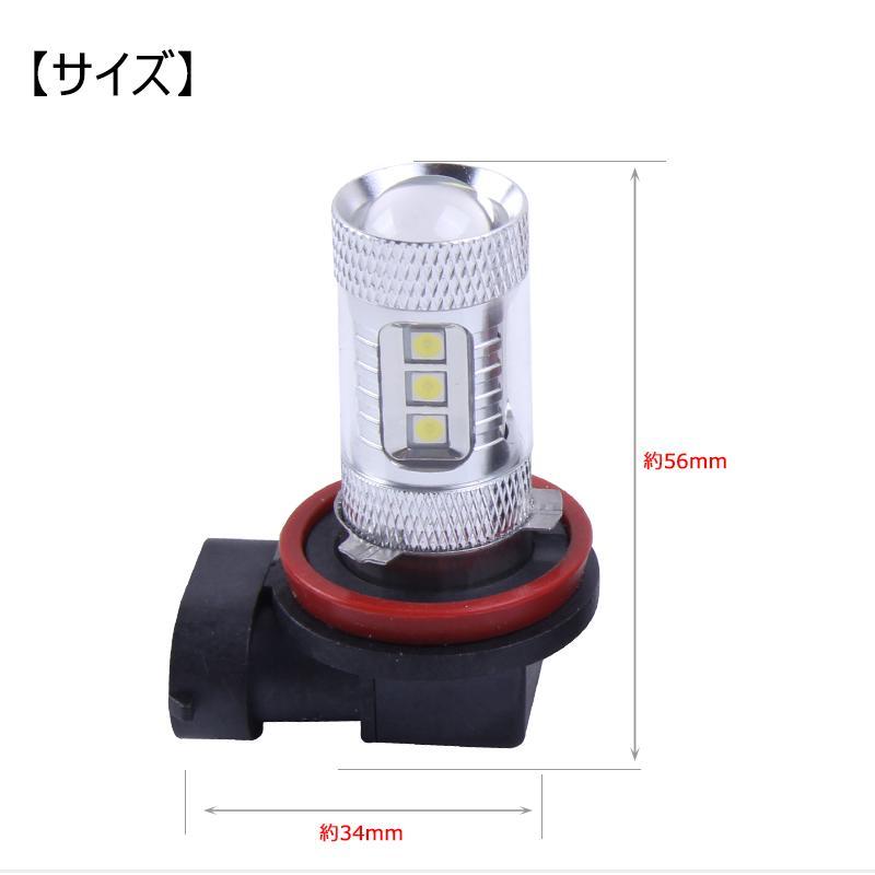 LED フォグランプ 80W H8/H11/H16共通形状 2球セット 白 ホワイト|field-ag|06