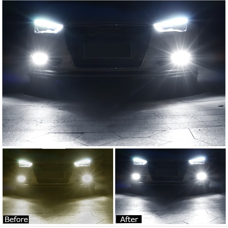 LED フォグランプ 80W H8/H11/H16共通形状 2球セット 白 ホワイト|field-ag|07