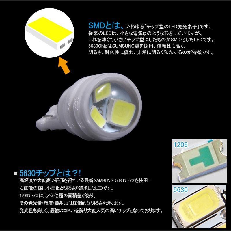 長寿命 高品質 T10/T15/T16 LEDバルブ プロジェクター セラミック素材 2個 ポジションランプ 車幅灯 マップランプ ホワイト 5630チップ ウェッジ ナンバー灯|field-ag|05
