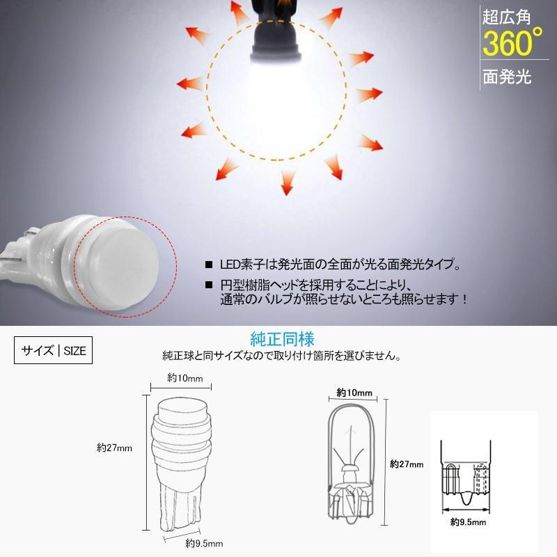 長寿命 高品質 T10/T15/T16 LEDバルブ 面発光 セラミック素材 2個 ライセンスランプ マップランプ ホワイト 5630チップ ナンバー灯|field-ag|04