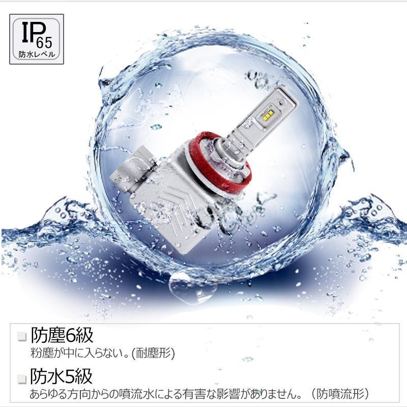 9S H8/H11/H16 一年保証 コンパクト オールインワン LEDヘッドライト 6連 Philips ZES 高輝度 取付簡単 長寿命 6000LM 6500K 高速冷却フアン搭載 IP65防水|field-ag|13