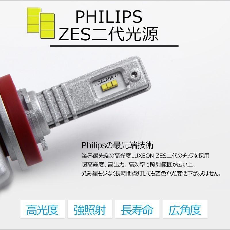 9S H8/H11/H16 一年保証 コンパクト オールインワン LEDヘッドライト 6連 Philips ZES 高輝度 取付簡単 長寿命 6000LM 6500K 高速冷却フアン搭載 IP65防水|field-ag|03