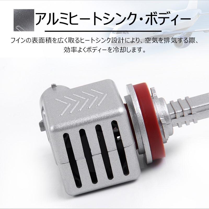 9S H8/H11/H16 一年保証 コンパクト オールインワン LEDヘッドライト 6連 Philips ZES 高輝度 取付簡単 長寿命 6000LM 6500K 高速冷却フアン搭載 IP65防水|field-ag|05