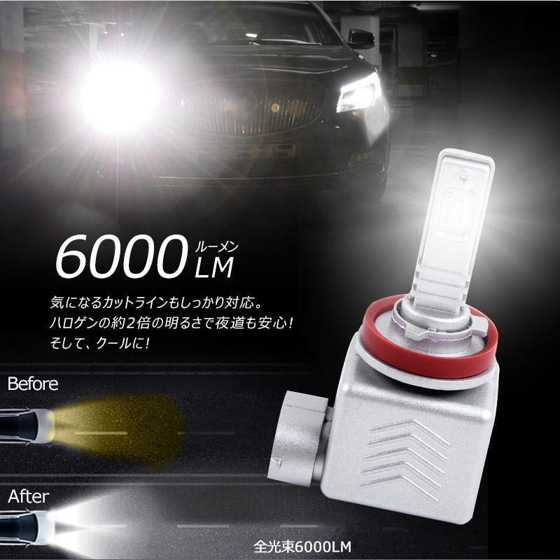 9S H8/H11/H16 一年保証 コンパクト オールインワン LEDヘッドライト 6連 Philips ZES 高輝度 取付簡単 長寿命 6000LM 6500K 高速冷却フアン搭載 IP65防水|field-ag|08
