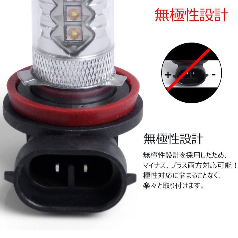 LEDフォグランプ H8 80W 爆光OSRAM製チップ 白/ホワイト車検対応 配線不要 簡単交換 LEDフォグ LED フォグランプ フォグライト|field-ag|06