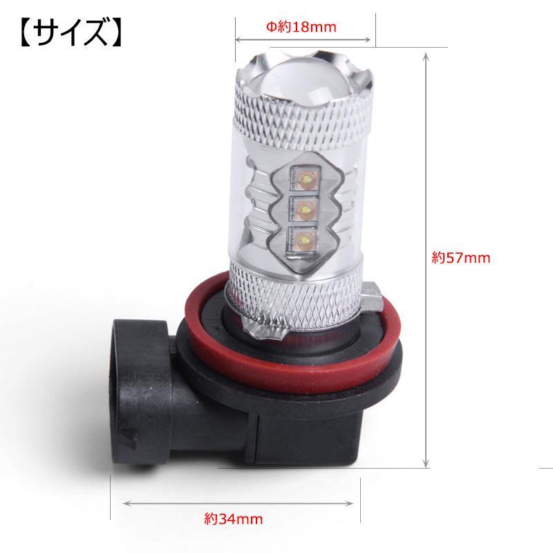 LEDフォグランプ H8 80W 爆光OSRAM製チップ 白/ホワイト車検対応 配線不要 簡単交換 LEDフォグ LED フォグランプ フォグライト|field-ag|07
