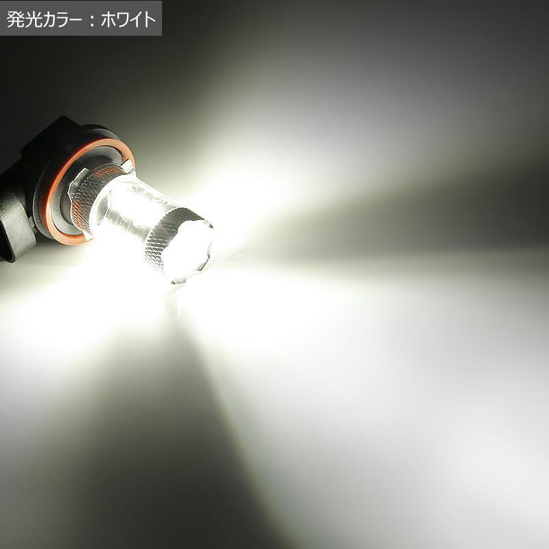 LEDフォグランプ H8 80W 爆光OSRAM製チップ 白/ホワイト車検対応 配線不要 簡単交換 LEDフォグ LED フォグランプ フォグライト|field-ag|09