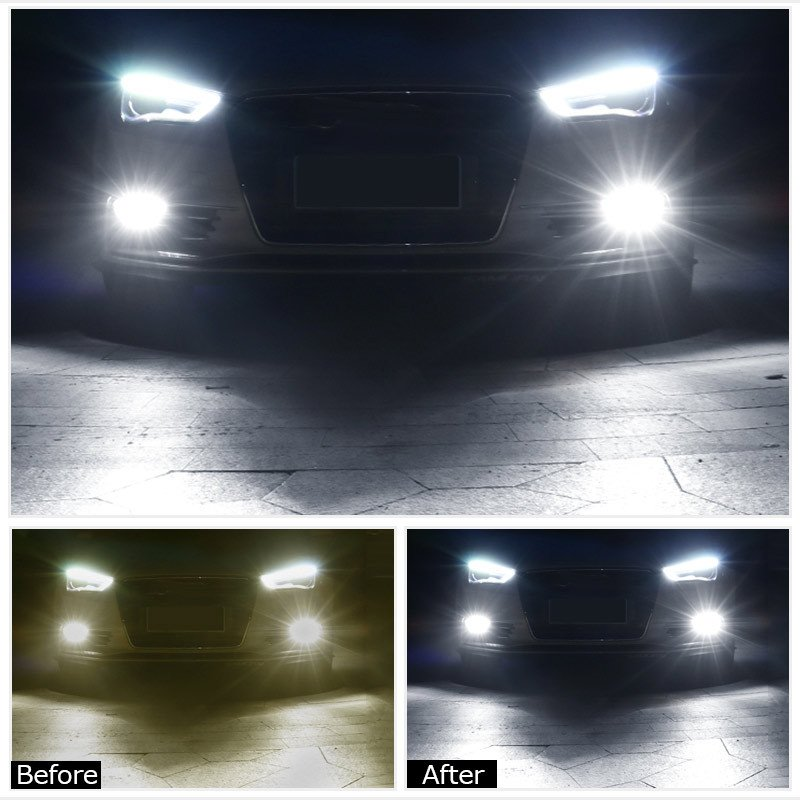LEDフォグランプ H8 80W 爆光OSRAM製チップ 白/ホワイト車検対応 配線不要 簡単交換 LEDフォグ LED フォグランプ フォグライト|field-ag|10