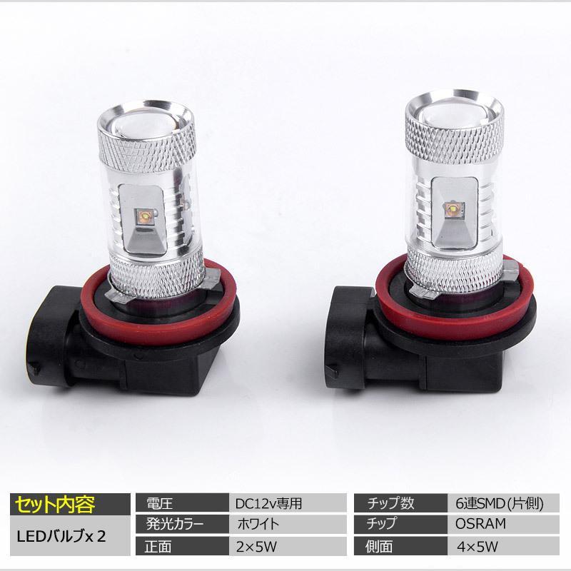 LEDフォグランプ H8/H11 30W 爆光OSRAM製チップ 白/ホワイト車検対応 配線不要 簡単交換 LEDフォグ LED フォグランプ|field-ag|02