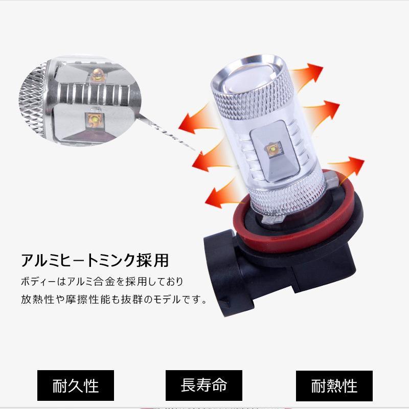 LEDフォグランプ H8/H11 30W 爆光OSRAM製チップ 白/ホワイト車検対応 配線不要 簡単交換 LEDフォグ LED フォグランプ|field-ag|05