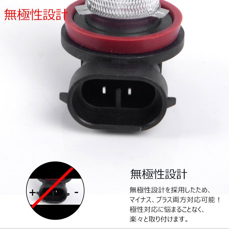 LEDフォグランプ H8/H11 30W 爆光OSRAM製チップ 白/ホワイト車検対応 配線不要 簡単交換 LEDフォグ LED フォグランプ|field-ag|06
