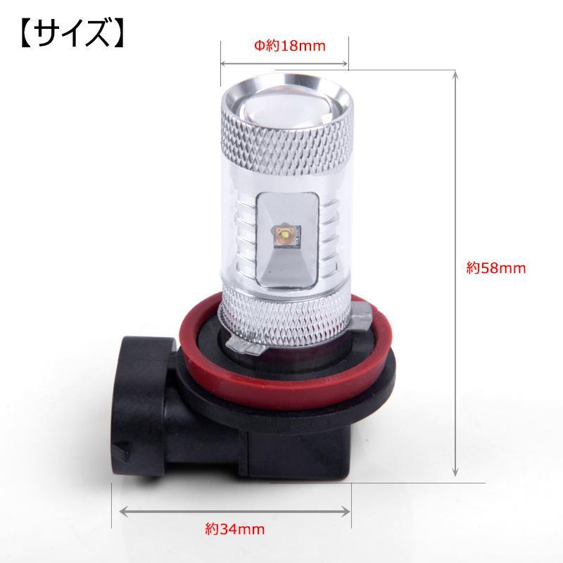 LEDフォグランプ H8/H11 30W 爆光OSRAM製チップ 白/ホワイト車検対応 配線不要 簡単交換 LEDフォグ LED フォグランプ|field-ag|07