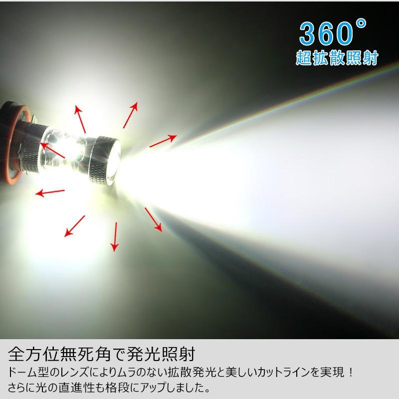 LEDフォグランプ H8/H11 30W 爆光OSRAM製チップ 白/ホワイト車検対応 配線不要 簡単交換 LEDフォグ LED フォグランプ|field-ag|08