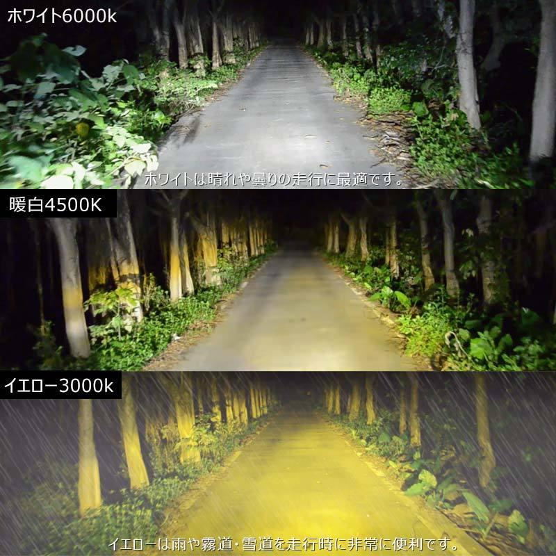 9005/HB3 オールインワン LEDヘッドライト 6000Kホワイト 4500K暖白 3000Kイエロー 調光機能付き LEDフォグランプ 片側30W 6000LM SS30 電装 パーツ|field-ag|04