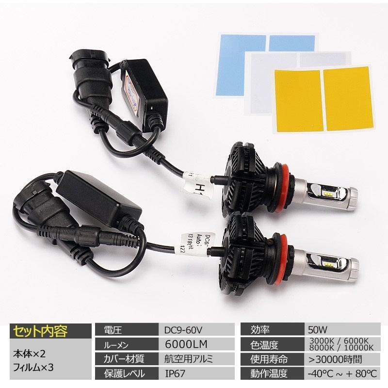 X3Plus LEDヘッドライト H8/H11/H16 6000LM 車検対応 業界初DC9~60V対応 長寿命 調整簡単 高輝度 IP67 ファンレス field-ag 02