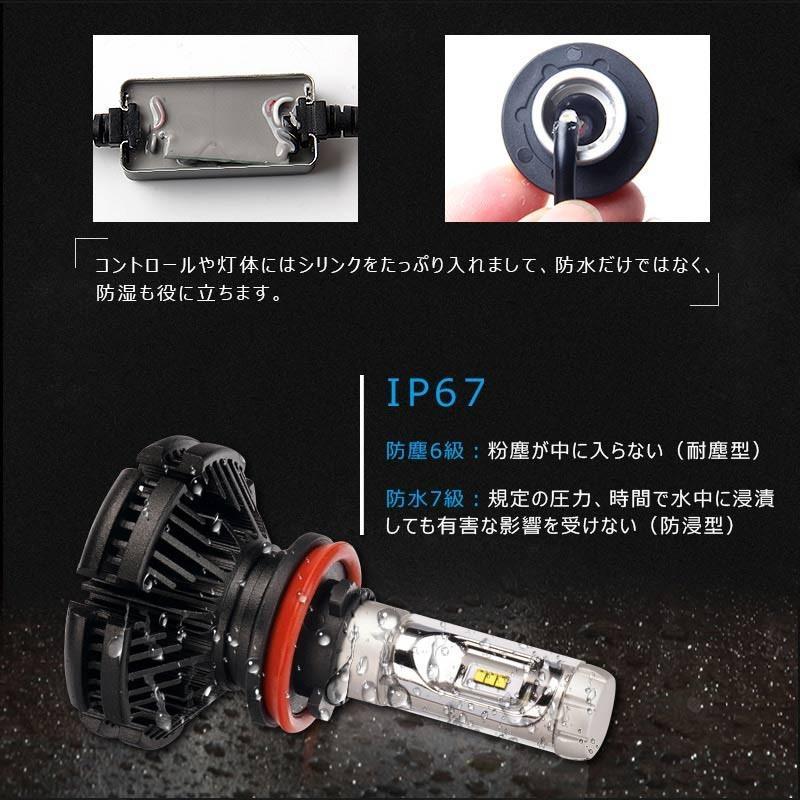 X3Plus LEDヘッドライト H8/H11/H16 6000LM 車検対応 業界初DC9~60V対応 長寿命 調整簡単 高輝度 IP67 ファンレス field-ag 12