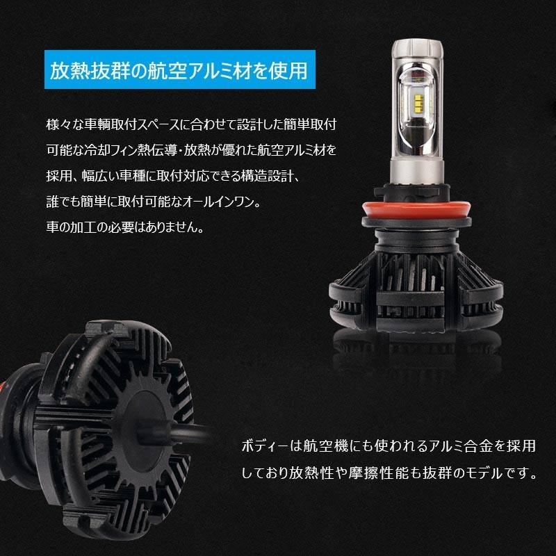 X3Plus LEDヘッドライト H8/H11/H16 6000LM 車検対応 業界初DC9~60V対応 長寿命 調整簡単 高輝度 IP67 ファンレス field-ag 10