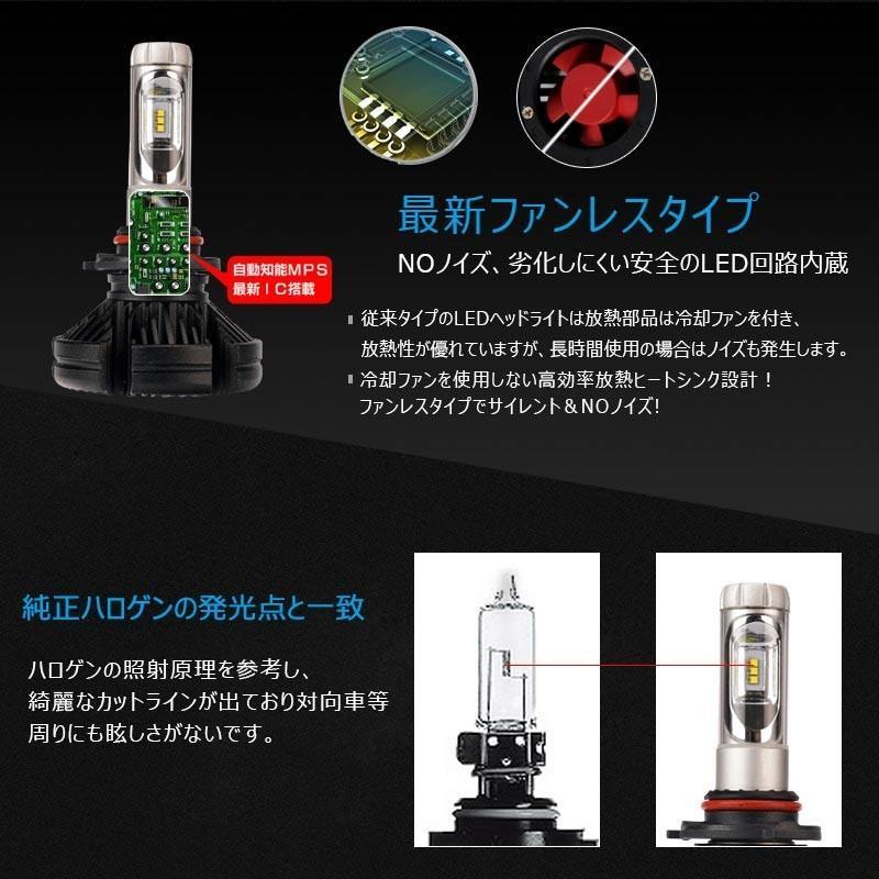 X3Plus LEDヘッドライト HB3/9005 6000LM 車検対応 業界初DC9~60V対応 長寿命 調整簡単 高輝度 IP67 ファンレス|field-ag|11