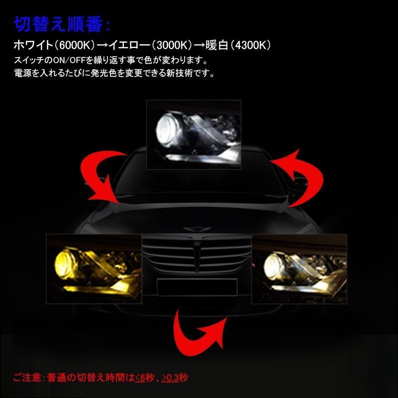 ledヘッドライト H4 3色発光 オールインワン LEDヘッドライト ホワイト イエロー LEDフォグランプ 片側30W 3000LM ファン付きタイプ|field-ag|03