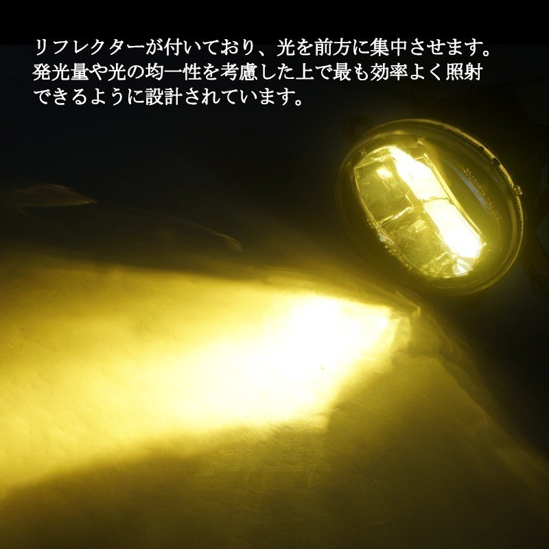 フォグランプユニット トヨタ汎用 H8 H11 H16 純正交換 イエロー発光 2300Kラスチックレンズ 光軸調整可能 アルファード ヴェルファイア C-HR field-ag 05