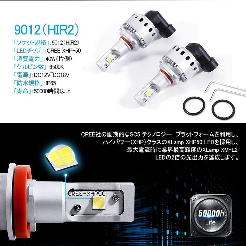 オールインワン LEDヘッドライト CREE社 XHP50搭載タイプ 純白/6500K 12V 対応 一体型 ワンタッチ取付 field-ag 04