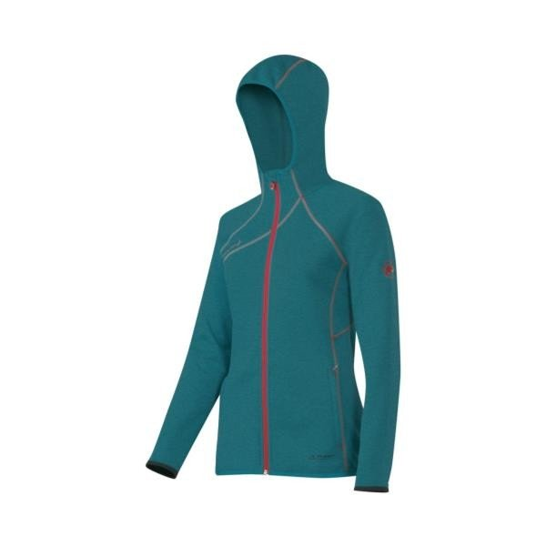 【50%OFF】 Get Away Hooded Jacket Women pacific m?lange XS ( 1010-14831-5691-XS / MAT10295084 )( マムート )(QBJ37), タニダWEBショップ 70315a63