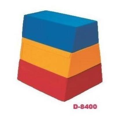 ダンノ DANNO 運動用具 ソフトとびばこ3段(3色) D-8400 特殊送料(ランク:お見積り) (DAN) (QCB02)