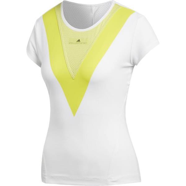 EEO72-CG2359 WOMEN STELLA T−SHIRTS WHT/エアロライムS1 アディダス レディース Tシャツ 半袖 (ADS)(QBJ37)