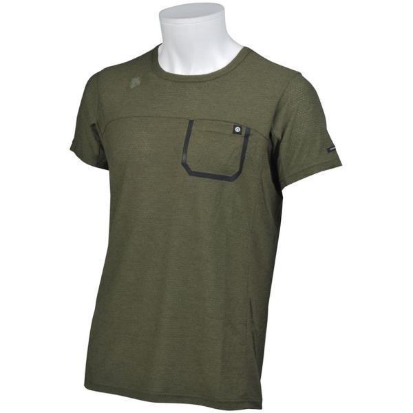 DMMLJA50Z-SKHK マナードウールハーフスリーブシャツ DESCENTE メンズ Tシャツ 半袖 (DES)(QBJ37)