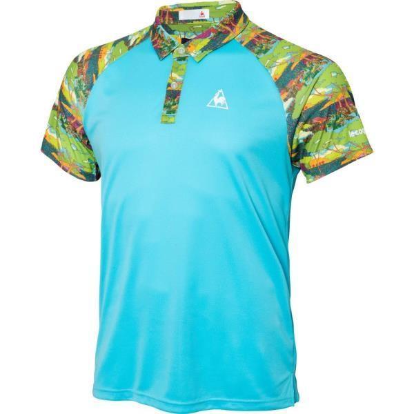 QTMLJA41-PVB リバティー半袖ポロシャツ ルコック メンズ ポロシャツ Tシャツ (LCQ)(QBJ37)