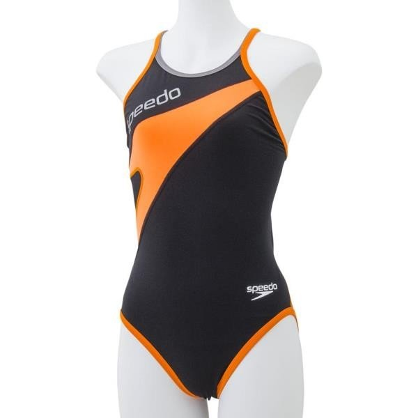 SD37T03-KO ジュニアトレインカットスーツ K*OR スピード 子供 水着 女子 (JSS)(QBJ37)