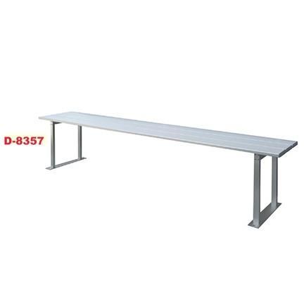 D8357 アルミ製ベンチ(背なし1800) 送料ランク【I】 淡野製作所 DANNO 長いす (DAN)(QBJ37)