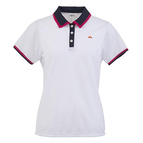 ETS0500L-W ポロシャツ ホワイト エレッセ レディース ポロシャツ 半袖 (ELE)(QBJ37)