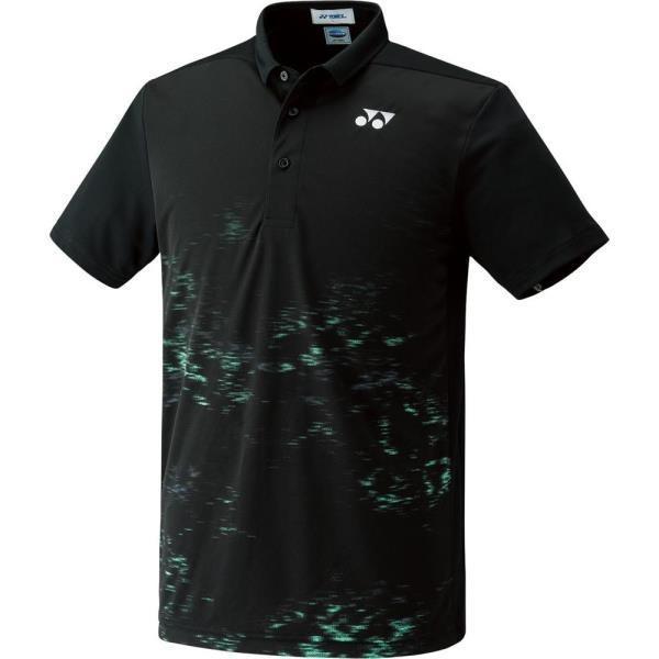 UNI ポロシャツ(フィットスタイル) ブラック ヨネックス ポロシャツ テニスウェア (YNX)(QBJ37)
