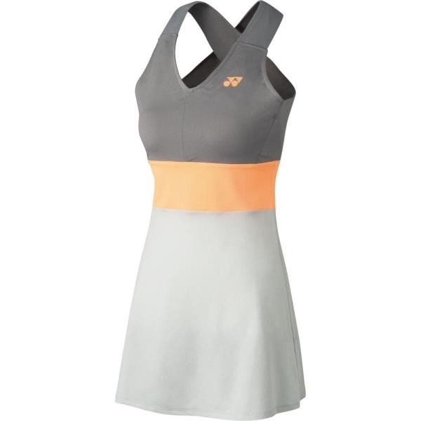 ウィメンズ ワンピース(インナースパッツ付) グレー ヨネックス スカート レディース テニスウェア (YNX)(QBJ37)